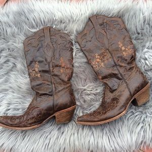 Women's Corral Boots Cowboy Brown Size 9